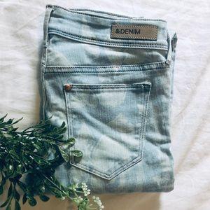 H&M Floral denim skinny jeans 👖